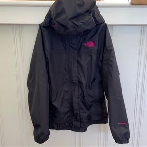 Girl's Black North Face Raincoat